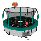 Батут UNIX line SUPREME GAME 12 ft + Basketball