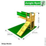 Игровой комплекс «Jungle Cottage + Bridge Module»